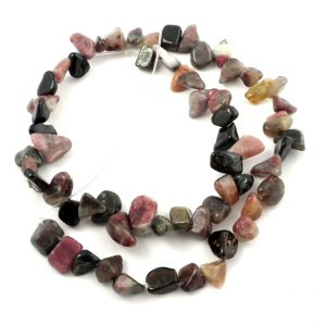 Mixed Tourmaline Chip Bead Strand All Crystal Jewelry chip bead