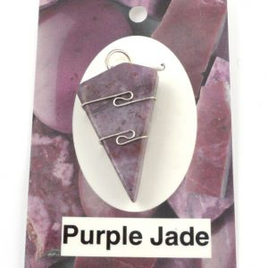 Purple Jade Wire Wrapped Pendant Crystal Jewelry pendant