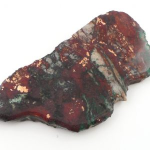 Sonora Sunset (Chrysocolla Cuprite) with Copper Slab Gallet chrysocolla cuprite