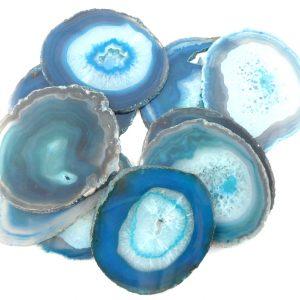 Agate Slabs, Teal, pack of 10 size 3 Agate Slabs agate