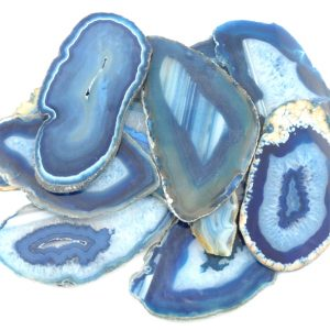 Agate Slabs, Blue, pack of 10 size 3 Agate Slabs agate