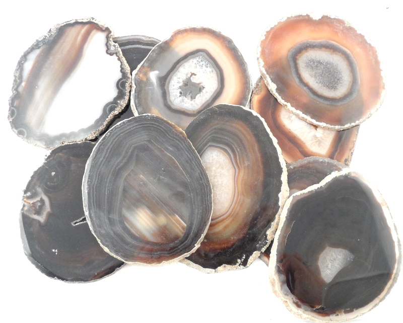 Agate Slabs, Black, pack of 10 size 3 Agate Slabs agate