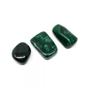 Malachite lg tumbled 4oz All Tumbled Stones Africa