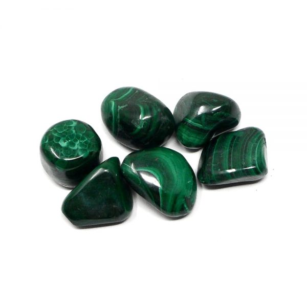 Malachite sm tumbled 4oz All Tumbled Stones Africa