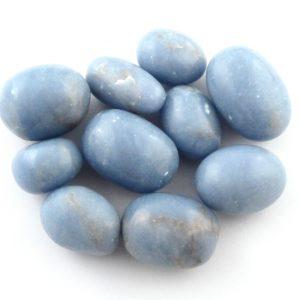Angelite, tumbled, 4oz All Tumbled Stones
