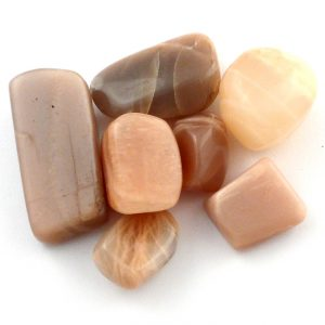 Moonstone, Peach, tumbled, 2oz Tumbled Stones moonstone