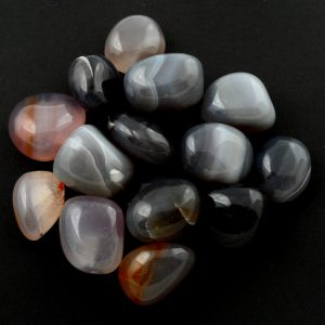 Agate, Translucent, tumbled, 8oz All Tumbled Stones agate