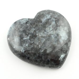 Larvikite Heart, md Polished Crystals blue labradorite