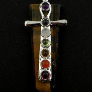Tiger Eye Chakra Pendant All Crystal Jewelry ankh