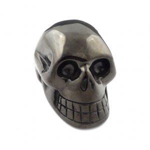 Jet, Skull Polished Crystals jet