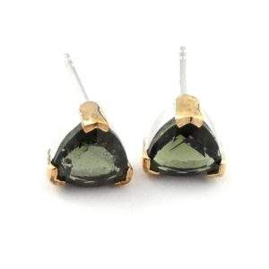 Moldavite Stud Earrings All Crystal Jewelry earrings