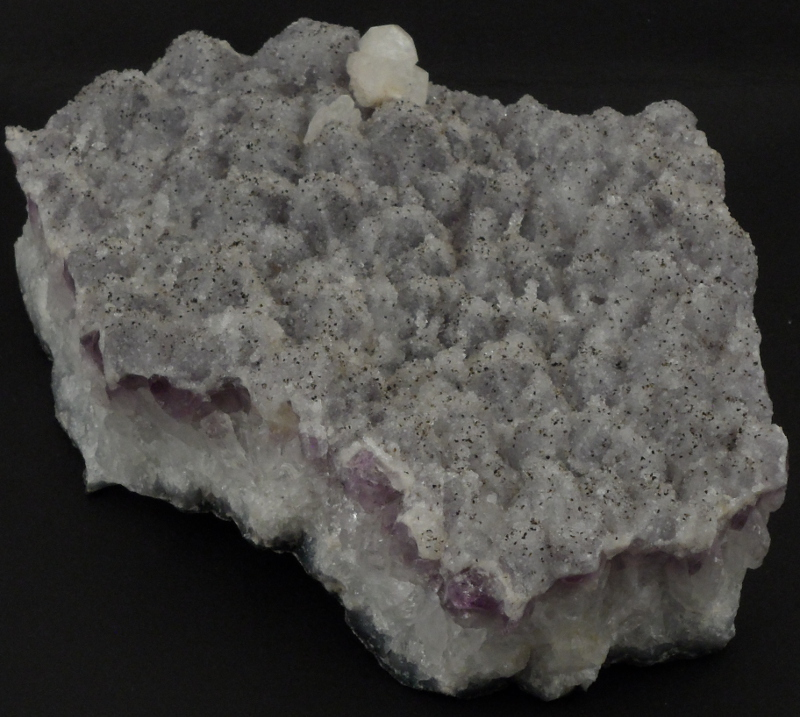 Amethyst Cluster with Calcite All Raw Crystals