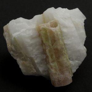 Tourmaline, Watermelon, Raw, on Quartz All Raw Crystals