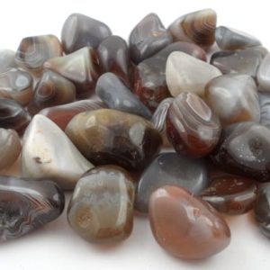 Agate, Botswana Grey, tumbled, 8oz All Tumbled Stones agate