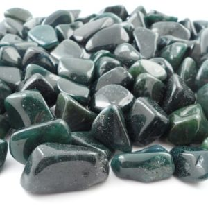 Agate, Moss, tumbled, 16oz All Tumbled Stones agate