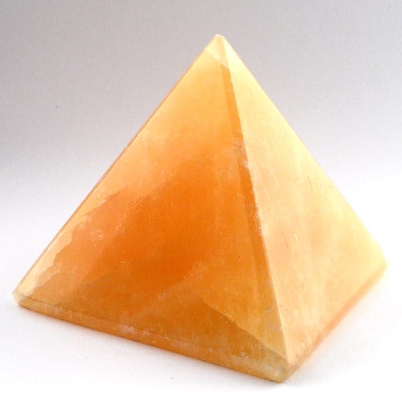 Orange Calcite Pyramid All Polished Crystals calcite