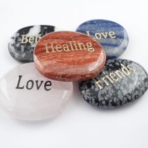 Word Pocket Stones, 5pc Gallet pocket stones