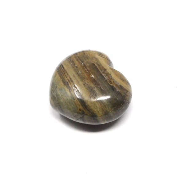 Silverlace Jasper Puffy Heart 45mm All Polished Crystals crystal heart