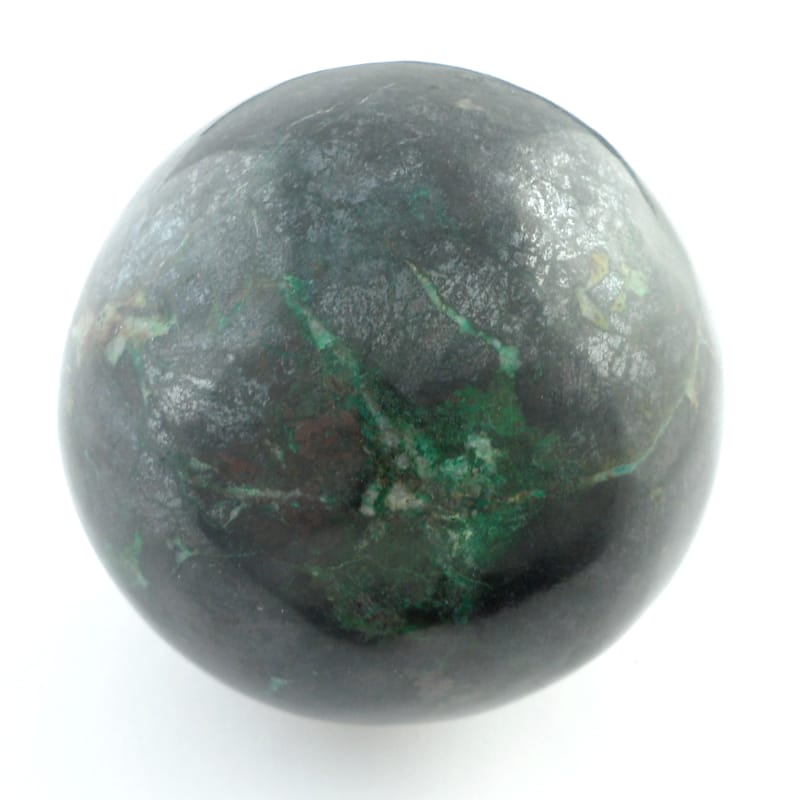 Chrysocolla in Black Tourmaline Sphere Polished Crystals black tourmaline