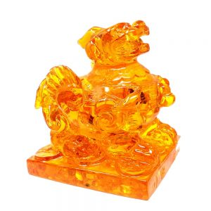 Amber Foo Dog (Reconstituted) Unique Gift Ideas amber