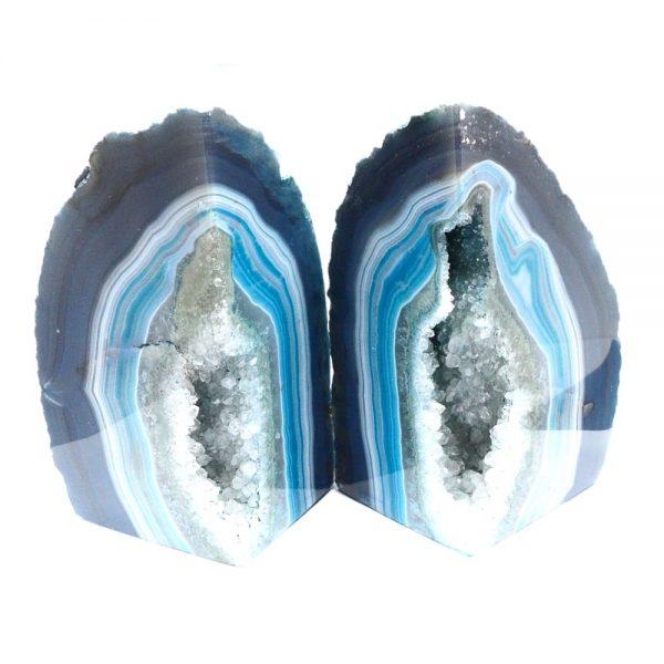 Agate Bookends – Blue Agate Bookends agate