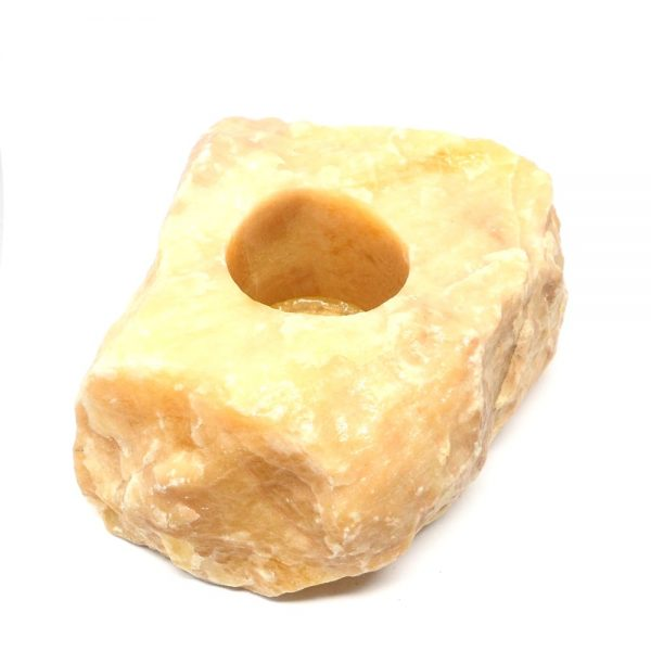 Orange Calcite Candle Holder All Specialty Items candle holder