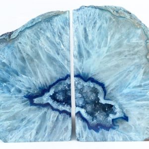 Agate Bookends, blue