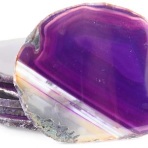 Agate Slabs, Purple, pack of 10 size 4 Agate Products agate