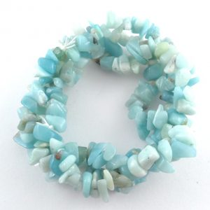 Amazonite Three Strand Chip Bracelet