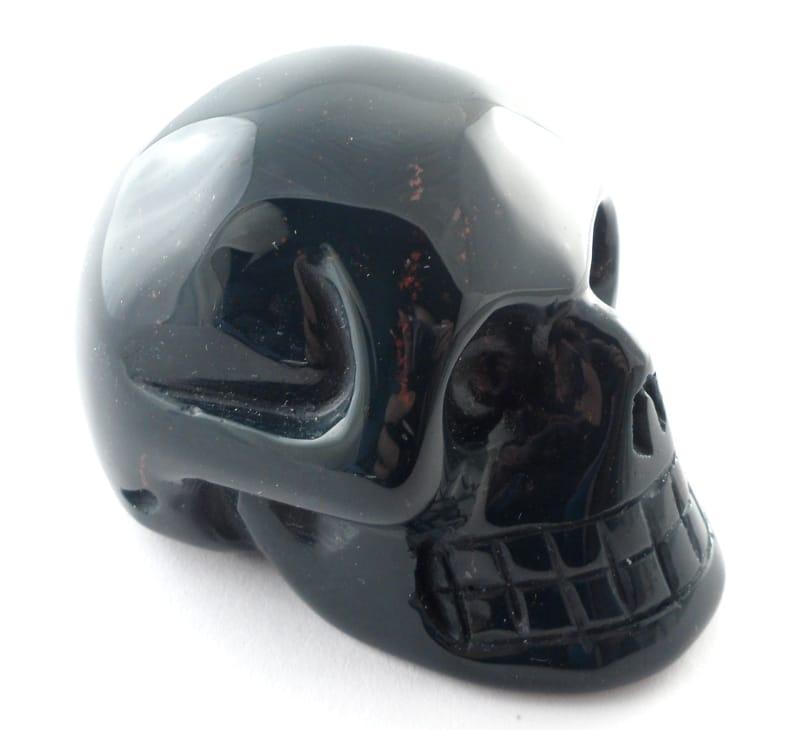 Bloodstone Skull All Polished Crystals bloodstone