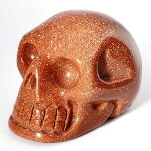Goldstone Skull All Polished Crystals goldstone