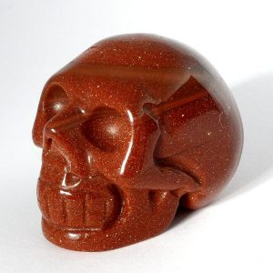Goldstone Skull All Polished Crystals goldstone