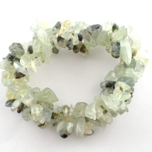 Green Garnet Three Strand Chip Bracelet All Crystal Jewelry bracelet