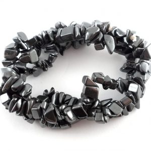 Hematite Three Strand Chip Bracelet All Crystal Jewelry bracelet