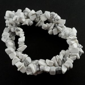 Howlite Three Strand Chip Bracelet All Crystal Jewelry bracelet