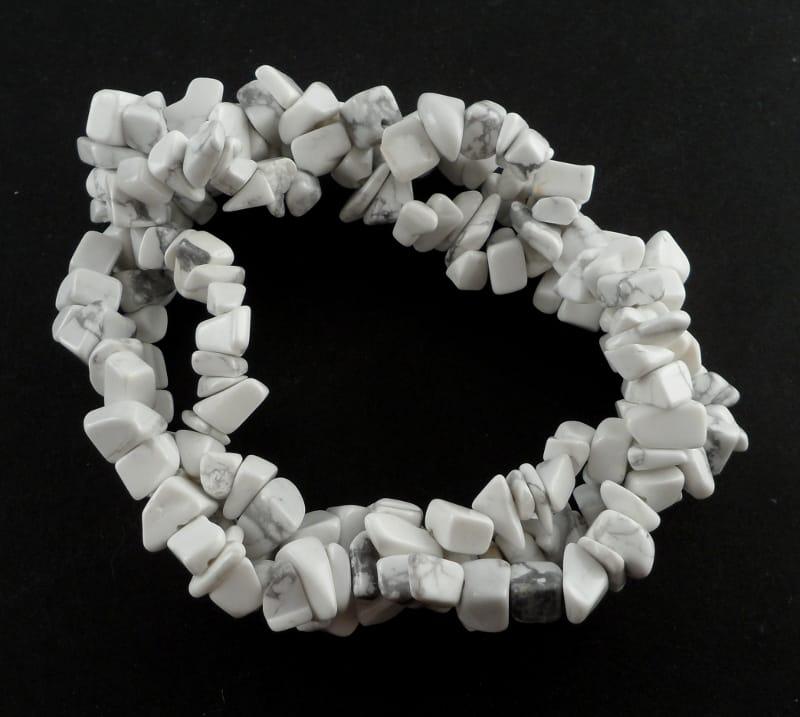 Howlite Three Strand Chip Bracelet All Crystal Jewelry bracelet