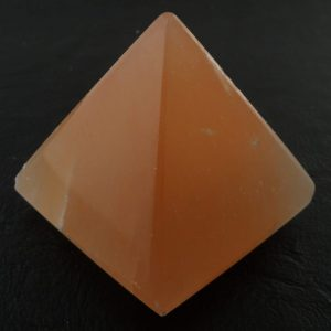 Selenite, Orange Pyramid Polished Crystals orange selenite