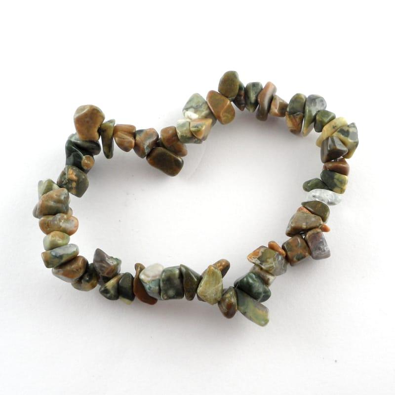 Rhyolite Single Strand Chip Bracelet Crystal Jewelry bracelet