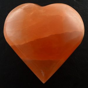 Selenite Heart, Orange Polished Crystals heart