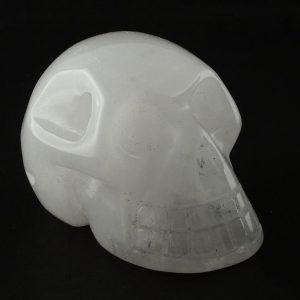 Snow Quartz Skull All Polished Crystals quartz