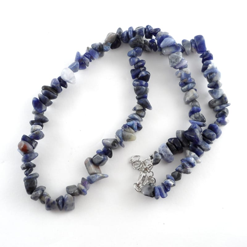 Sodalite Chip Bead Choker All Crystal Jewelry chip beads