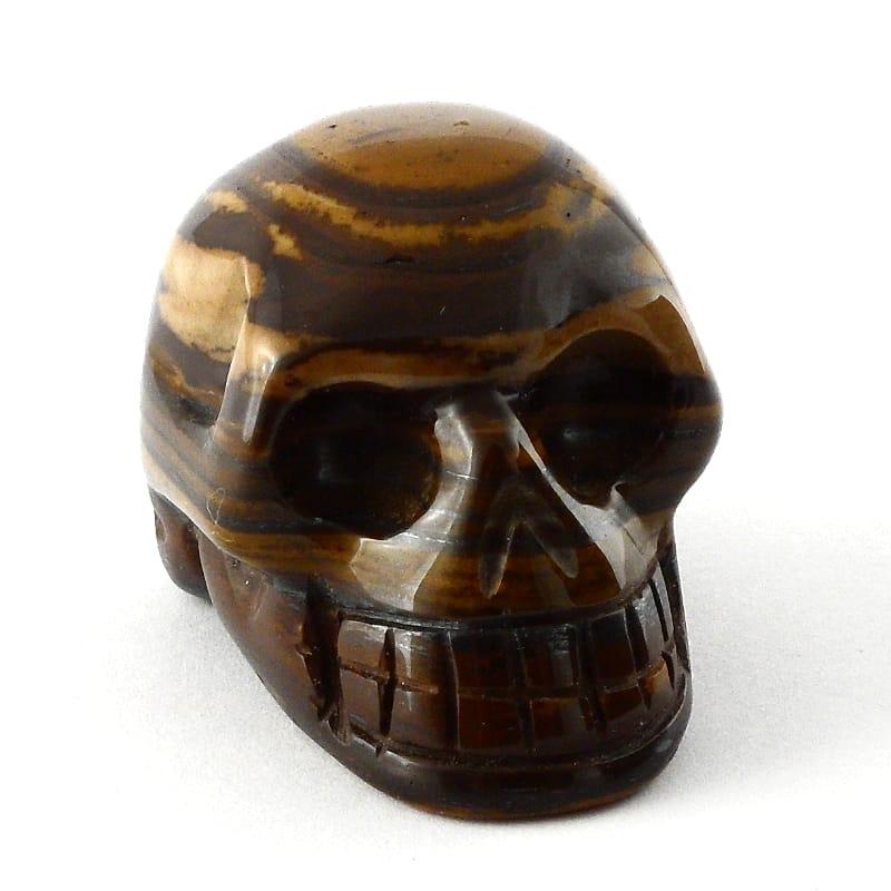 Tiger Eye Skull All Polished Crystals skull