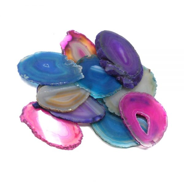 Agate Slabs, Mixed, pack of 10 size 0 Agate Slabs agate