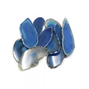 Agate Slabs, Blue, pack of 10 size 00 Agate Slabs agate