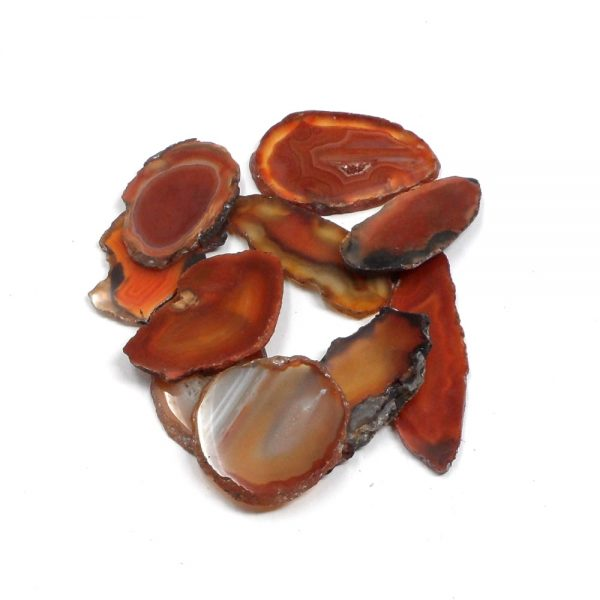 Agate Slabs, Red, pack of 10 size 00 Agate Products agate