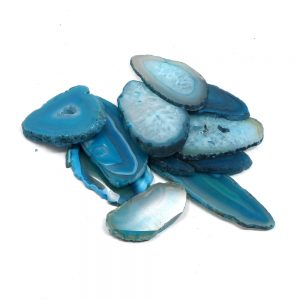 Agate Slabs, Teal, pack of 10 size 00 Agate Products agate
