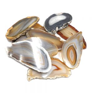 Agate Slabs, Natural, pack of 10 size 1 Agate Slabs agate