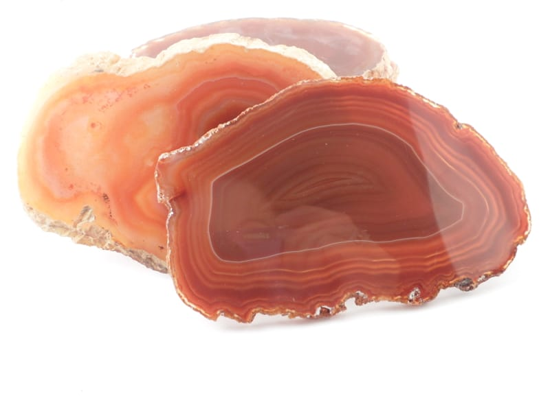 Agate Slabs, Orange, pack of 10 size 2 Agate Slabs agate