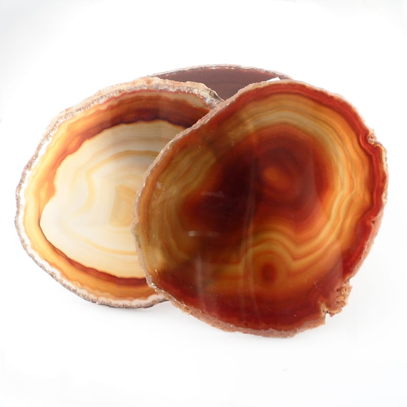Agate Slabs, Red, pack of 10 size 3 Agate Slabs agate