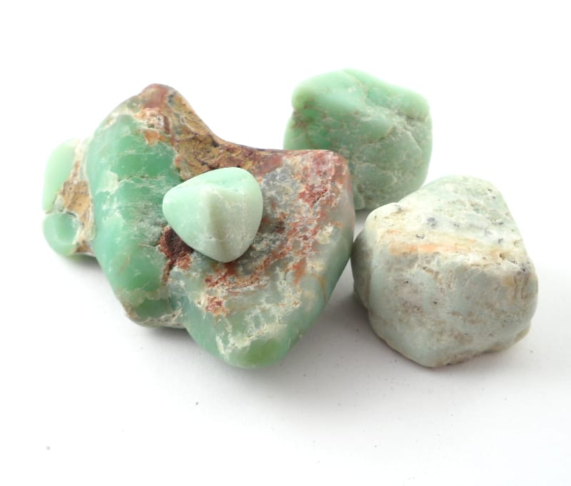 Chrysoprase, Raw, 4oz All Raw Crystals chrysoprase